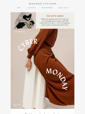 Modern Citizen - Cyber Monday — last chances to enjoy our offer 💫