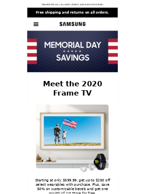 loremipsumdolor, don't miss out! Save big on TVs this Memorial Day.