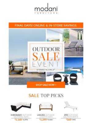 Modani Furniture - Final Days! | Outdoor Sale Event ☀️