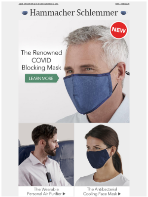Hammacher Schlemmer - The Renowned COVID Blocking Mask