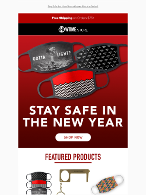 Showtime Networks - Stay Safe in the New Year! 🎇 + Free Shipping on $75+