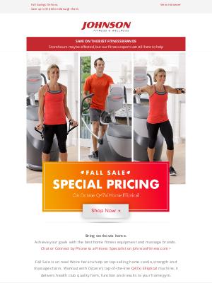 Johnson Fitness - Fall Sale🍂Save on Octane Q47xi Home Elliptical