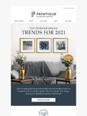 Printique - Top Interior Design Trends For 2021