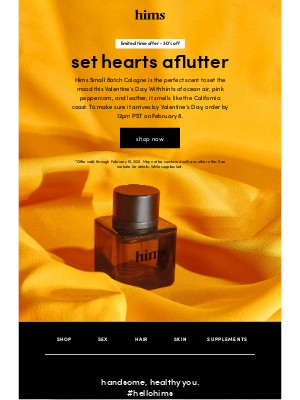 hims - don't miss your chance to smell amazing
