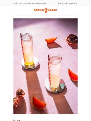 Shaker and Spoon - Mix up springtime vodka cocktails!