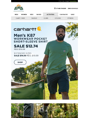 Eastern Mountain Sports - Carhartt K87 Tee 25% OFF