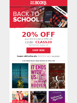 Start the school year with savings!