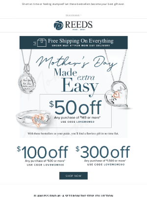 REEDS Jewelers - Inside: Your Mother's Day cheatsheet