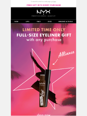 NYX - Your FREE Gift is Running Out!