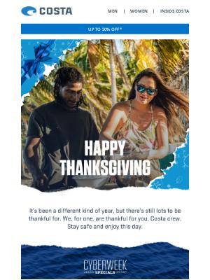 Costa Sunglasses - HAPPY THANKSGIVING, CREW
