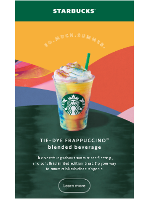 The Tie-Dye Frappuccino IS HERE 🎉