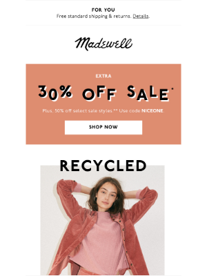 Madewell - Introducing…recycled cashmere (!)