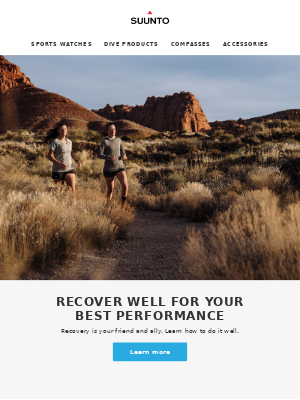 Recover well for your best performance