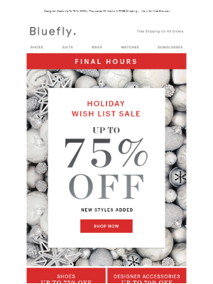 Ends Tonight: Holiday Wish List Sale