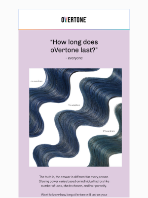 oVertone - How long does oVertone last?