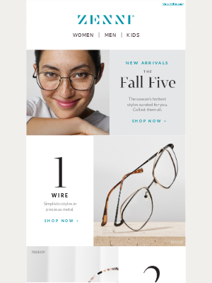 Zenni Optical - Cozy Up to New Arrivals for Fall