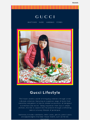 Gucci USA - Debuting Gucci Lifestyle: A World of Intrigue