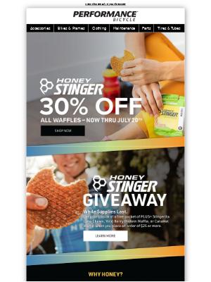 Free Honey Stinger Inside! 🧇