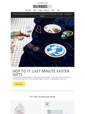 Selfridges (UK) - Hop to it: last-minute Easter gifts