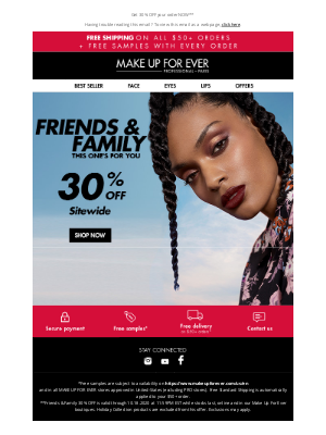 MAKE UP FOR EVER - This Is Major: 30% Off Sitewide