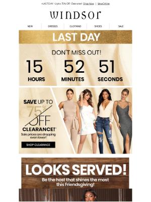 Windsor Fashions - Friendsgiving | Looks Served!