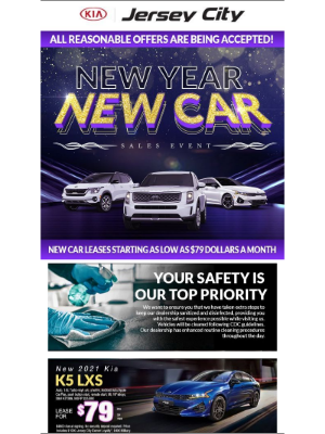 Kia Motors America - New Year New Deals Mean Seventy Nine Dollars A Month Leases Here At Jersey City Kia!