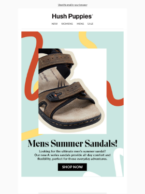 Hush Puppies - Just in! New Mens Sandals