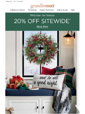 Save 20% SITEWIDE | It's a joyful NEW season–welcome it!