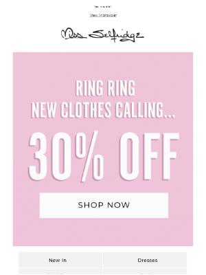 Miss Selfridge - Did somebody say 30% off? 👀