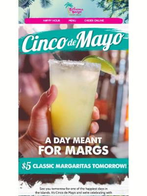Bahama Breeze - $5 Classic Margs Tomorrow!