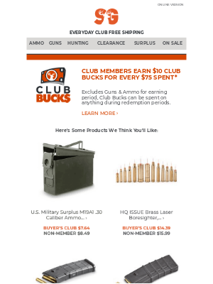 Sportsman's Guide - Top Products Picked Just For You