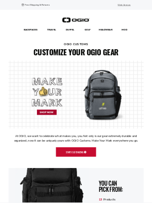 Ogio - DIY Bags! Make Your New Bag Uniquely Yours