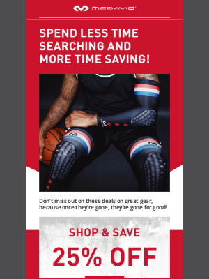 Mcdavid Sports Medical - Let The Savings Roll 💲💲 Shop 25%, 50% and 75% OFF