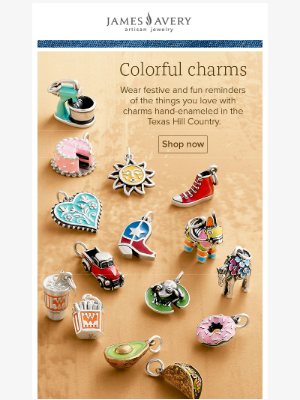 James Avery Jewelry - Charms hand-enameled in Texas