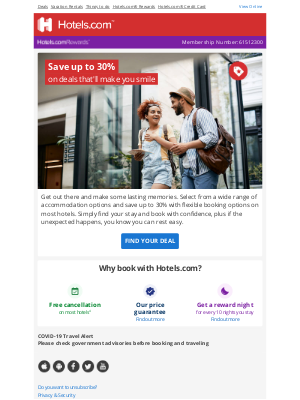 Hotels - Monday's a great day to save up to 30%