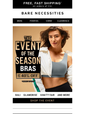 Bare Necessities - Save Up To 40% On These Not-So-Basic Bras!