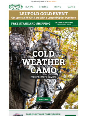 Sportsman's Warehouse - Winter is almost here! Shop our cold weather camo.