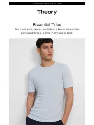 Theory - New to Essential Trios: The Modal Jersey Tee