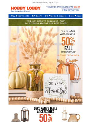 Our Biggest Fall Sale Starts Today!