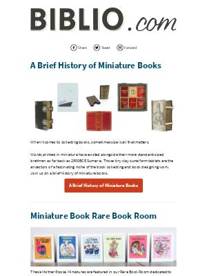 Biblio.com - Tiny Treasures: A Look At Miniature Books