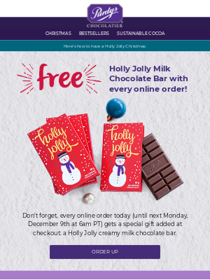 🎁 Pssst... Your free chocolate with online purchase is waiting 🍫
