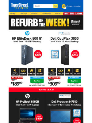 TigerDirect - Incredible Finds! $189 HP i5 USFF PC