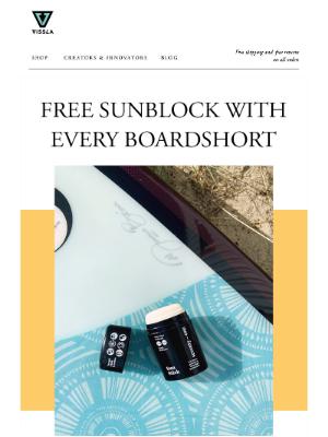 ☀Heat wave 🌊get a free sunblock