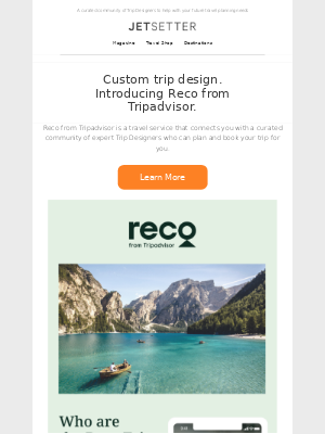 Jetsetter - Meet Reco: Not your mother's travel agent.