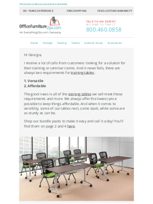 Office Furniture - I get a lot of calls from customers looking for...
