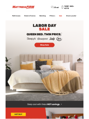 Mattress Firm - Queen bed. Twin price. Right now.