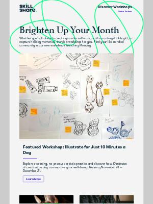 Skillshare - 5 new ways to brighten your month
