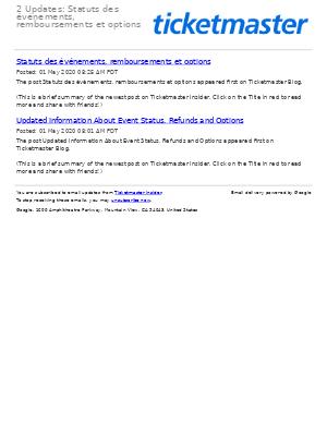 2 Updates: Statuts des événements, remboursements et options