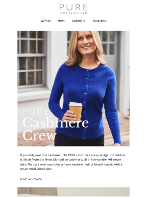 Pure Collection (UK) - The Only Cashmere Cardigan You Need.