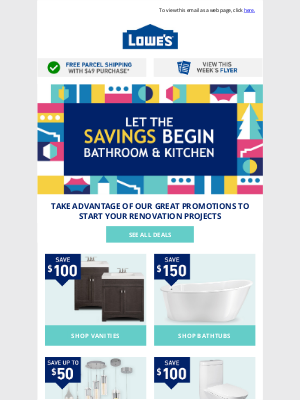Lowes Canada - Hey Hugo! Ready for a bathroom & kitchen reno?